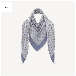 Louis Vuitton monogram denim shawl M71382